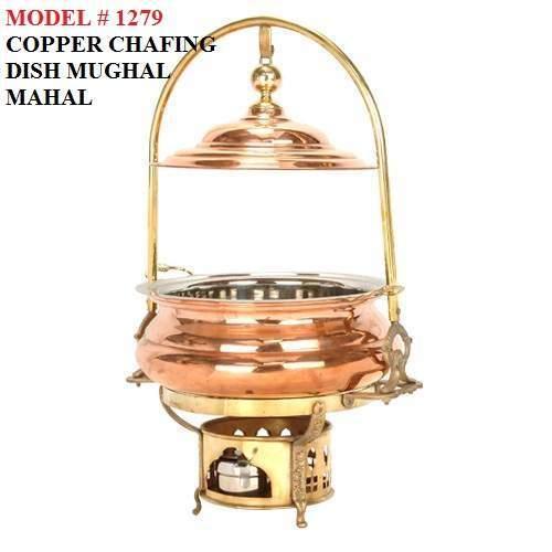 Copper Chafing Dish Mughal Mahal