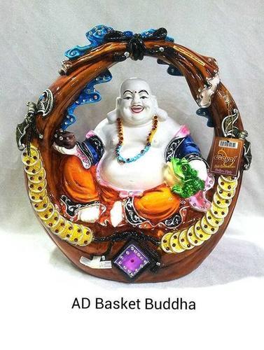 Resin Ad Basket Lord Budha Idol Statues
