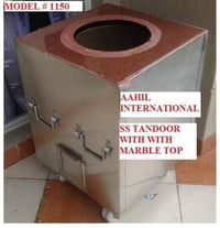 Stainless Steel Tandoor With Marble Top