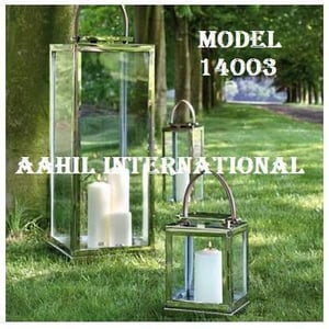 Vicl1708 Stainless Steel Lantern With Leather Handle