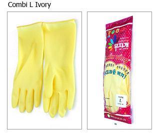 Combi Rubber Ivory Gloves (L)