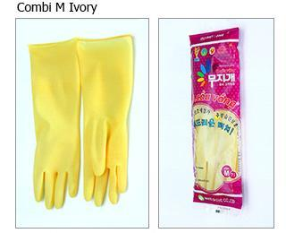 Combi Rubber Ivory Gloves (M)