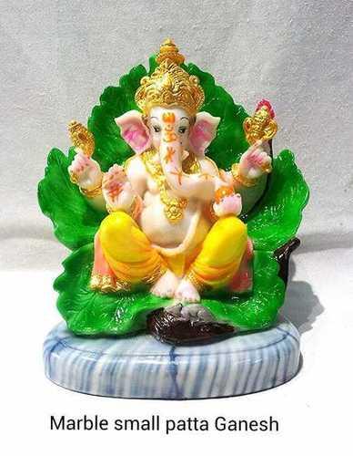 Marble Small Patta Lord Ganesh Statue