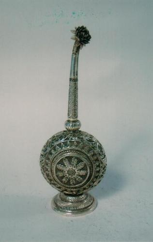 Handcrafted Antique Silver Gulabdani (Perfume Holder)