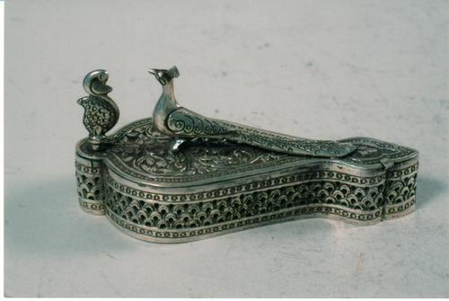 Handcrafted Silver Peacock Chopra