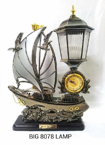 Rigid Big 8078 Big Plastic Ship Lamp With Clock