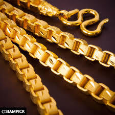 Cut Faceted Yellow Chain