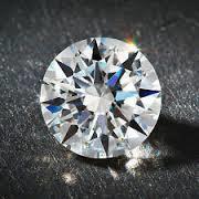 Round Cubic Zirconia Blue Gemstone