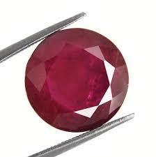 Tetragon Shaped Red Corundum Gemstone in  Vasna