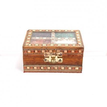 Wooden Gem Stone Painting Box