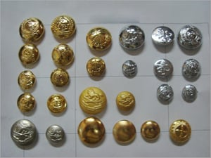 Antique Brass Dome Buttons