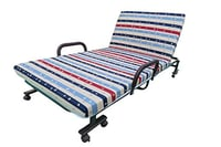 Folding Adjustable Bed With Mattress & Wheels