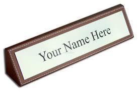 Designer Nameplates