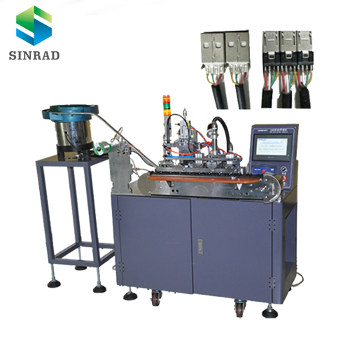 Robotic Cable Production Line Automatic Usb Connector Soldering Machine