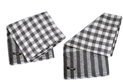 Designer Natural Checks Shawls