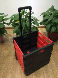 Foldable Plastic Shopping Cart