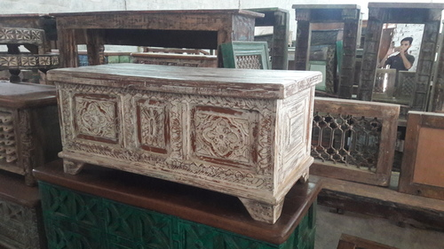 Wooden Carved Square Panel Box