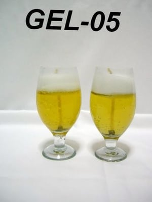 Beer Glass Gel Candle