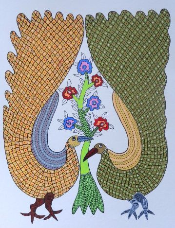 Gond Painting on Paper