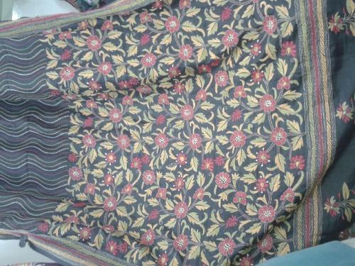 Silk Kantha Stitch Sarees