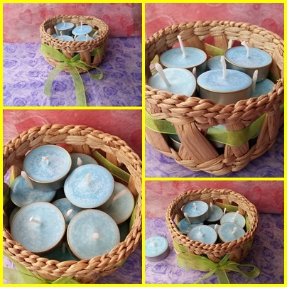 Wax Tealight Candles(Set 12 Pcs.)