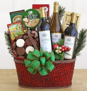 Holiday Wicker Gift Baskets