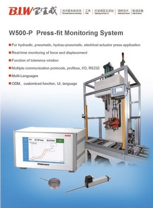 Press Load And Displacement Monitoring System