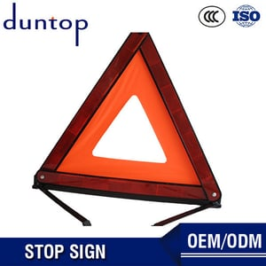 Car Reflective Triangle Warning Sign With Rotating Light