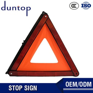Road Work Reflective Triangle Warning Stop Sign