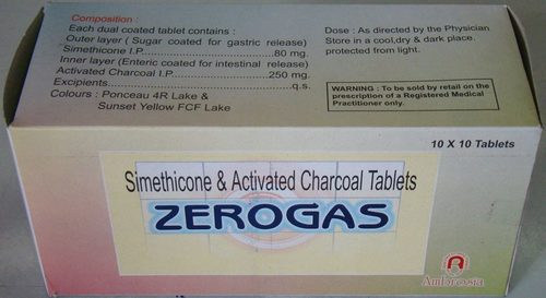 Dual Coated Charcoal With Simethicone Tablets