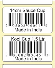 Premium Grade Barcode Label