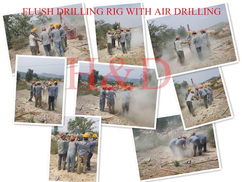 Air Motor Top Drive Flush Drilling Rig