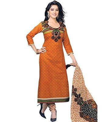 Ethnic Cotton Suit Fabric