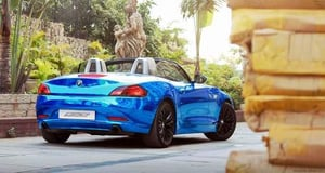 Blue Chrome Car Wrapping Solution