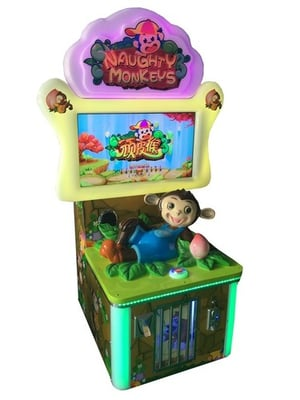 Naughty Monkey Coin Operated Game Machine