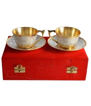 Gold Plated Cup Set