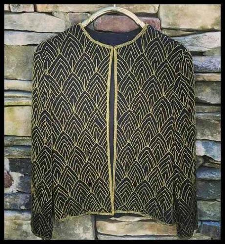 Ladies Art Deco Beaded Vintage Jackets For Evening
