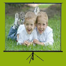 Tripod Projection Screen in  10-Sector