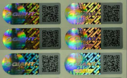 Hologram With Barcode Print
