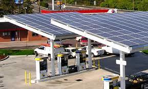 Petrol Pump Solar Power Panel