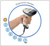 Corded Handheld Barcode Scanner