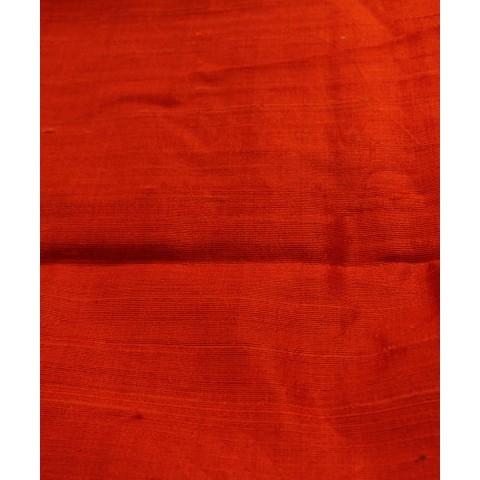 Handwoven Orange Raw Silk Khadi Fabric