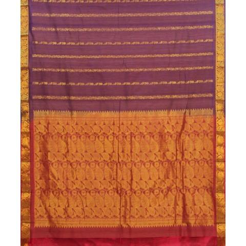 Handwoven Purple Silk Cotton Saree