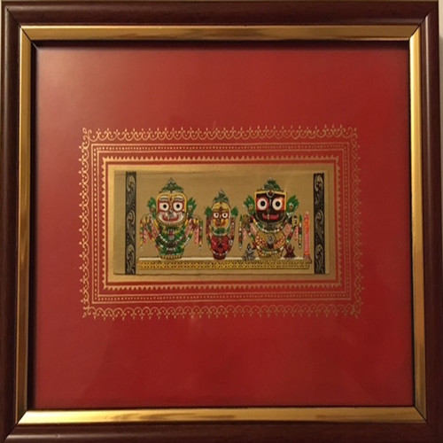 Jagannaath Pattachitra Painting With Glass Frame