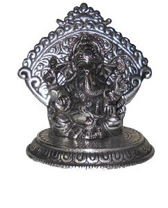 White Metal Ganesh Idol At Best Price In Greater Noida Uttar