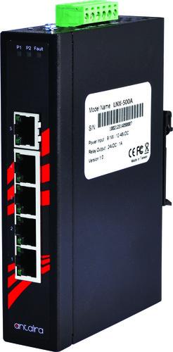 LNX-500A/ 5-Port 10/100TX Slim Industrial Unmanaged Ethernet Switch