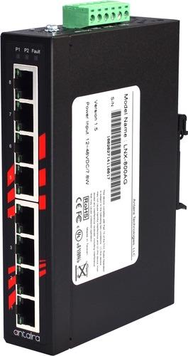 LNX-800AG/ 8-Port Industrial Gigabit Unmanaged Ethernet Switch
