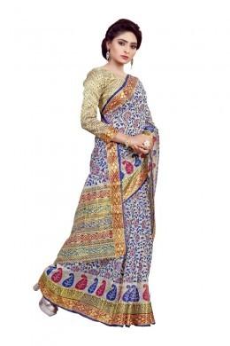 Purple Traditional Wear Cotton Saree