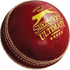 Slazenger Ultimate Cricket Leather Ball in   Dist. Ahmednagar
