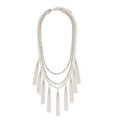 Mixed Chain Tassel Necklace